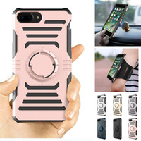 Wholesale Iphone Sports Car - Car Magnetic Outdoor Sport Cover Multifunction Armor Defender Case with Armband For iPhone X 8 7 6 6S Plus 5 5S SE Sumsung S7 S8 Plus Edge