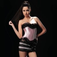 Wholesale Brocade Skirt - Sexy Lace Brocade Bustier top with Tutu Skirt Women Corselet S M L XL XXL Burlesque Club wear 8108