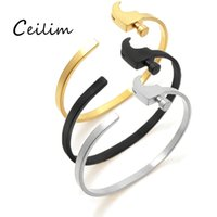 Wholesale hammered bracelet - Steampunk personalized black & silver & gold adjustable hammer cuff bangle for men women gothic rock bracelets hop hip jewelry wholesaler
