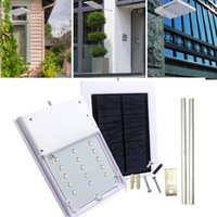 Wholesale Wholesale Solar Powered Path Lights - LED Street Light Solar Powered Automatic Light Control Sensor Lamp Outdoor Lighting Garden Path Spot Light Wall Emergency Lamp Luminaria