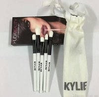 Wholesale Goat Bags - Kylie Brush Set Kylie Limited Edition Holiday Collection brushes kit 5pcs Kylie Cosmetics Makeup brushes with bag Christmas kit