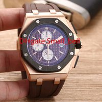Wholesale Royal Brown Watches - Luxury AAA Quality 26401RO Royal Oak Boutique Men's Watch Import VK Quartz Movement 43MM 904L Stainless Steel Case Men's Watch EJx #16