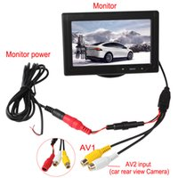 Wholesale color rear view camera - 4.3 Inch Car Rear View Monitors Color TFT LCD Screen 2-Channel Video Input Support Multi-role Display CMO_332