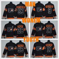 5abe3ba74 ... Philadelphia Flyers jerseys 2017 Stadium Series 53 Shayne Gostisbehere  9 Ivan Provorov 11 Travis Konecny Jersey ...