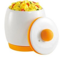 Wholesale 2017 new hot sell TV Egg Tastic Microwave Egg Cooker and Poacher for Fast and Fluffy Eggs White Orange