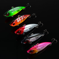 Wholesale 5 color cm g VIB plastic baits Lures Hard Bait hook Minnow Fishing Lure Hooks Fishing Hook Artificial Pesca Fishing Tackle
