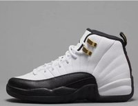 Wholesale Men S Shoes 12 - 2017 New retro 12 wool Retro 12 OVO Black Gold White Gold Men Basketball Shoes s Premium Blue ovo 12s Wool Trainers Sports Sneakers