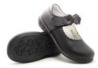Wholesale Girls Leather School Shoes - girls leather school shoes student shoes black flowers formal chaussure nina zapatos kids shoes uniform boutique