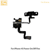 Wholesale Iphone Power Button Assembly - 5pcs lot Original For iphone 4G 4S Replacement Parts Sensor Power on off Flex+Earspeaker Assembly Power Button Swtich Side Key Flex Cable