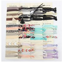 Wholesale printed elastic hair ties - Hair Rope Girls Lady Elastic Stretch Hair Tie Baby Printing Tipping Bridesmaid Hair Accessories Elastic for Wrist Women Children