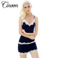 Wholesale womens cotton pajamas - Womens Pajamas Lace Women Pajamas Set Clothing for Women Homewear Indoor Clothing Lady lovely Cute pajamas for women's Sleepwear