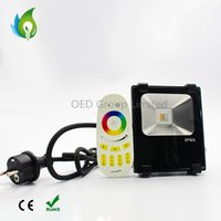 Wholesale rgb led flood lights outdoor - RGBW LED 2.4G RF Remote Control RGB+Warm white 10W LED Flood Light Waterproof IP65 Landscape Outdoor Garden Lamp