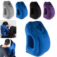 Wholesale train pillows - Newest Inflatable Travel Pillow Creative Cars Buses Airplanes Trains Office Napping Outdoor Camping Portable Head Neck Rest Pillow WX9-173