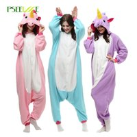 Wholesale Adult Bear Costume Blue - Wholesale Animal Stitch Unicorn Panda Bear Koala Pikachu Onesie Adult Unisex Cosplay Costume Pajamas Sleepwear For Men Women