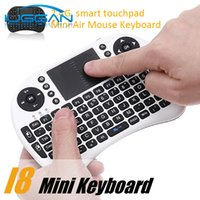2017 Teclado inalámbrico rii i8 teclados Fly Air Mouse Multi-Media Control remoto Touchpad Handheld para TV BOX Android Mini PC