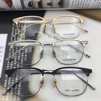 ingrosso occhiali da lettura telaio in titanio-2017 Thom marca Metallo Titanio occhiali TB104 Montature da vista Miopia lettura Telaio Ottico montature per occhiali da vista per gli uomini