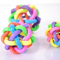 Wholesale tpe toys - TPE PVC Material Rainbow bells Large Medium small trumpet bells Toy ball Pet dog toys