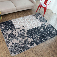 Clássico Jacquard Flores Folha Design Big Carpet Rug Sofá Chair Café Poliester Floor Mats Sala de estar Quarto Home Tapete Decorativo Tapete