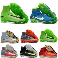 High Quality Kids Mercurial Superfly FG CR7 Magista Obra Sapatos de futebol Cristiano Ronaldo Cleats Neymar Footbal Sapatos Superflys Soccer Boots