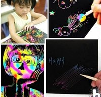 16K Colorful Scratch Art Magic Drawing Brinquedos Pintura Papel Kids Toy Pintura Mágica Desenho de Papel Z053