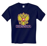 Base Shirt uomo t shirt Russia Double Eagle Stemma Golden Crest - Russian Pride Mens T-Shirt