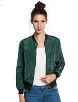 Wholesale Field Jackets Xl - 2016 Fashion bomber jacket women clothing Slim Thin spring autumn summer outdoor Downtown Field Utility Coat plus size Black Army Green Red