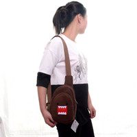 Wholesale Domo Kun Plush Bag - Wholesale- Cartoon Wallet DOMO KUN Coin Purse Brown Cross Body Bags Square Hang Rope Plush Messenger Bag for Children Girls Gifts 7*5''