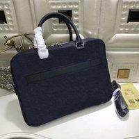 Wholesale Leather Laptop Envelope - Men Famous designer laptop bag cross body Porte-Documents Voyage shoulder business briefcase Graphite computer bag N41347 With Straps CX102