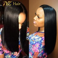 Wholesale Thick Density Lace Front Wigs - JYZ African American Full Lace Wigs Malaysian Virgin Hair Glueless Full Lace Wigs 130% Density Bob Straight Lace Front Human Hair Wigs Thick