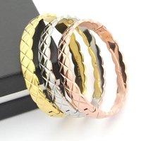 modische armreifen großhandel-Trendy 2017 Heißer Verkauf aushöhlen Armreifen Für Frauen Hochzeit Armbänder Armreifen Rose Gold Silber Armband für Frauen