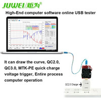 Freeshipping High-End-Computer-Software online USB-Tester USB Entladung Last QC2.0 / 3.0 MTK-PE Trigger Spannung Stromüberwachung Kapazität Tes