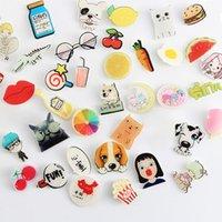 Wholesale Handbag Brooches - Cute Badges Fashion Cartoon Acrylic Pin Badge Dogs Cherry Snow White Princess Brooch Pin Set Female Male Handbags Clothing Accessories