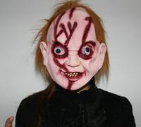 Wholesale Chucky Full Head Mask - 1pcs lot CHUCKY Mask actor's headgear Latex Full Head Adult Costume Halloween Creepy Scary Film Masks