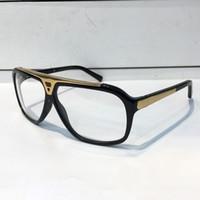 Wholesale logo resale online - Evidence Luxury Millionaire Glasses Retro Vintage Men Women Brand Designer Glasses Shiny Gold Summer Style Laser Logo Gold Plated With Case