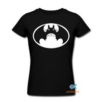 Wholesale Batman Tshirt Women - 2017 New Fashion Neighbour Totoro t shirt VS batman tshirt Unisex anime Top brand clothing Men Women Design T-Shirt