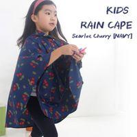 Wholesale Children S Hooded Poncho - S M L Folding Floral Dirt-proof Kids Rain Poncho Hooded Raincoat For Children Waterproof Rain Coat Outdoor Rainwear