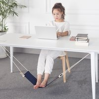 Foot Hammock Mini Feet Rest Stand Portable Office Lazy People Desk Footrest Leisure Chair Moda Table Hang Solid Color 22pn F R