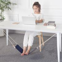hamaca de pie al por mayor-Pie Hamaca Mini pies descansan soporte portátil de oficina Lazy Personas Escritorio reposapiés silla del ocio manera de la tabla Cuelgue color sólido 22pn F R