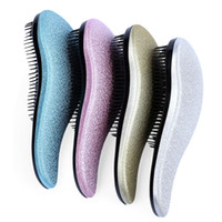 Wholesale Salon Massager - Beauty Healthy Styling Care Hair Comb Massager Detangle Magic Handle Tangle Detangling Comb Shower Hair Brush Salon Styling Tool
