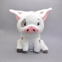 "Wholesale Soft Plush Pet Toys - New Hot 8.5"" Moana Pet Pig Pua Authentic Animals Plush Dolls Kid's Gifts Soft Stuffed Toys"