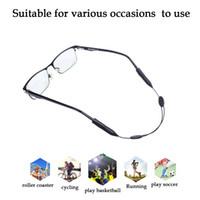 Wholesale adjustable eyeglasses - Adjustable Silicone Eyeglass Neck Strap Rope Retainer Holder for Adult and Children