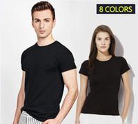 Wholesale Bead Clothing - T-Shirt Men Black T Shirt High quality Small Horse Embroidery Round collar Men Fashion men T Shirts Casual brand Clothing Cotton 3D Tshirt