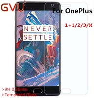 Wholesale One X Screen Guard - Wholesale- 9H 0.26mm Tempered Glass For Oneplus One Two Three X Screen Protector For Oneplus 1 2 3 X Glass screen protective flim guard
