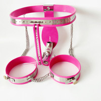 Wholesale Male Lockable Cage - Metal Male Chastity Cage Stainless Steel Chastity Belt Slave BDSM Bondage Fetish Lockable Penis Restraint Device With Anal Plug