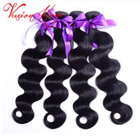 Wholesale 26 Inch Human Hair Braiding - Raw Indian Hair Weaves 3Bundles Lot Indian Body Wave Best Quality Unprocess Human Hair Weaves jamaica Braiding Hair Bulk