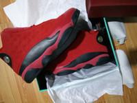 zapatos de baloncesto de china envío gratis al por mayor-Venta al por mayor 13 chino solo día 13s ¿Qué es el amor negro rojo zapatillas de baloncesto zapatillas de deporte envío gratis