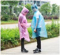 Wholesale pe coating - Fashion Hot Disposable PE Raincoats Poncho Rainwear Travel Rain Coat Rain Wear Gifts Mixed Colors Cycling Raincoats