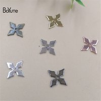 Wholesale Brass Cross Charms - BoYuTe Charms Wholesale 500Pcs 4 Colors 10MM Metal Brass Cross Charms for Jewelry Making Jewelry Findings & Components