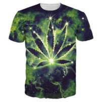 Wholesale Mens Galaxy T Shirt - Newest Fashion Mens Womans Pot Leaf Constellation Galaxy Space Summer Style Tees 3D Print Casual T-Shirt Tops Plus Size