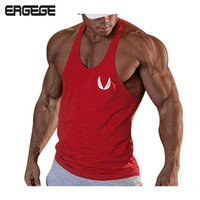 Wholesale Tank Top Yellow Sexy - Wholesale- bodybuilding vest Brand tank bodybuilding workout mens undershirt fitness men tank tops singlets Plus size XXL gyms vest